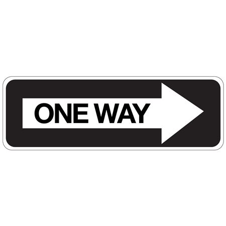 One Way (Right Arrow) - High Intensity Reflective 12 x 36