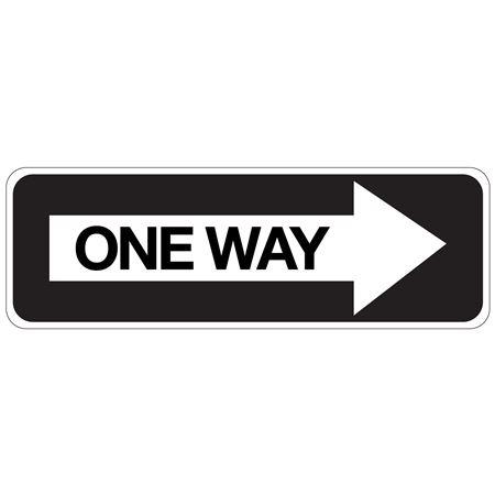 One Way (Right Arrow) 12x36 - Engineer Grade Reflective 12 x 36