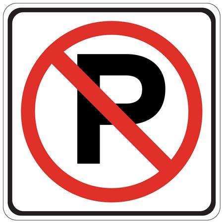 No Parking (Graphic) - Engineer Grade Reflective 24 x 24