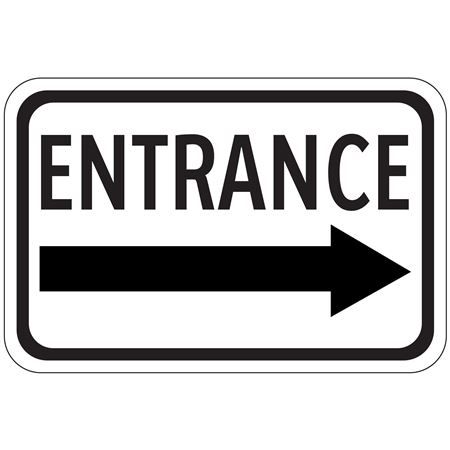Entrance Arrow - Right - High Intensity Reflective 12 x 18