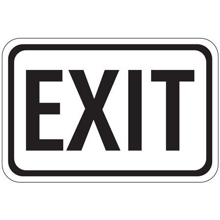 Exit - Engineer Grade Reflective 12 x 18