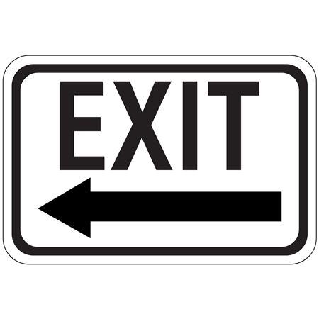 Exit Arrow - Left - High Intensity Reflective 12 x 18