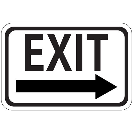 Exit Arrow - Right - High Intensity Reflective 12 x 18