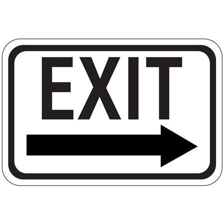 Exit Arrow - Right - Engineer Grade Reflective 12 x 18