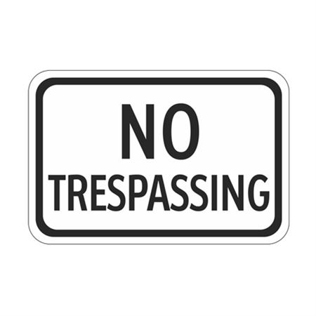No Trespassing - High Intensity Reflective 12 x 18