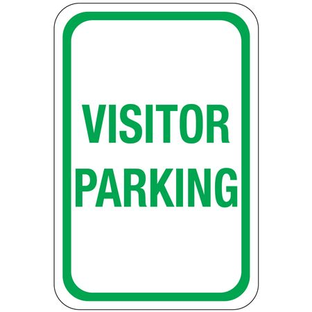 Visitor Parking Sign 12 x 18