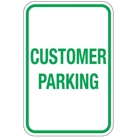 Customer Parking Sign 12 x 18