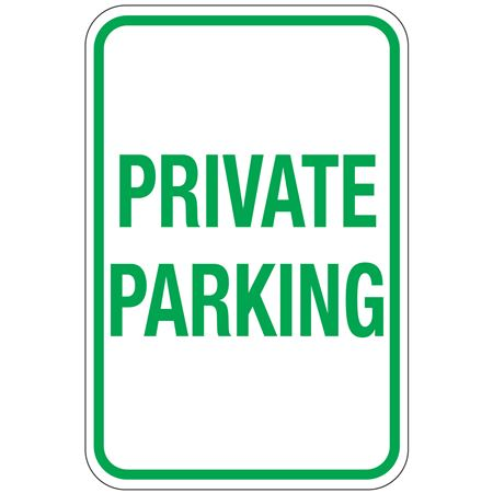 Private Parking Sign 12 x 18