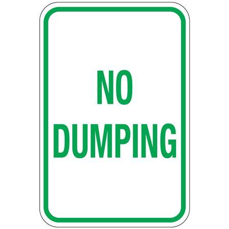 No Dumping Sign 12 x 18