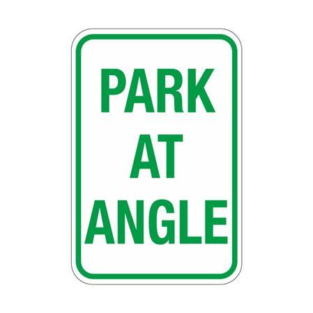Park At Angle Sign 12x18