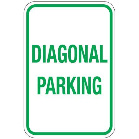 Diagonal Parking Sign 12x18