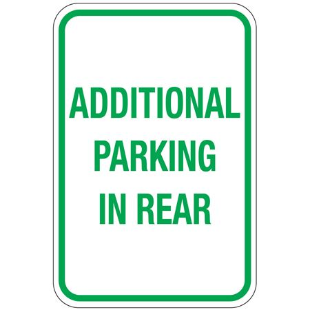 Additional Parking In Rear Sign 12x18