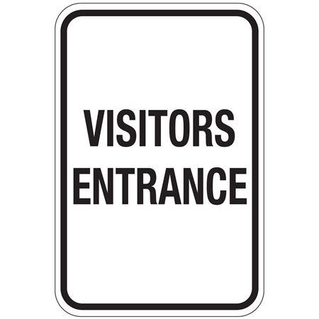 Visitors Entrance Sign 12x18