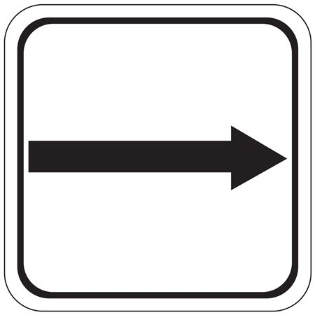 Right Arrow (Graphic) Sign 12x12
