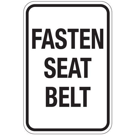 Fasten Seat Belt Sign 12x18
