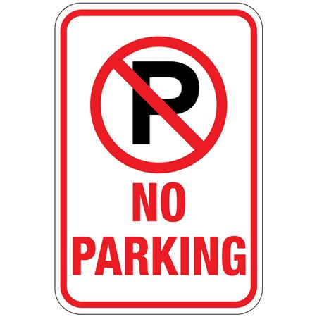 No Parking (Graphic) No Parking Sign 12 x 18