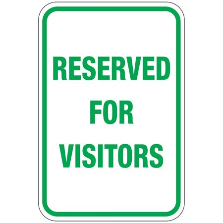 Reserved For Visitors Sign 12 x 18