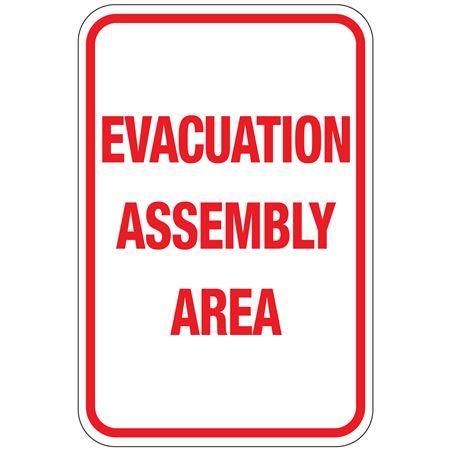 Evacuation Assembly Area Sign 12 x 18