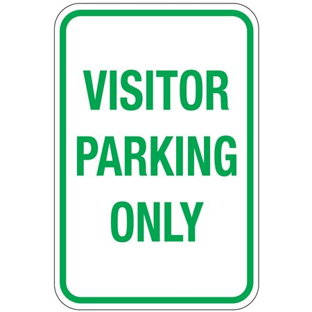 Visitor Parking Only Sign 12 x 18