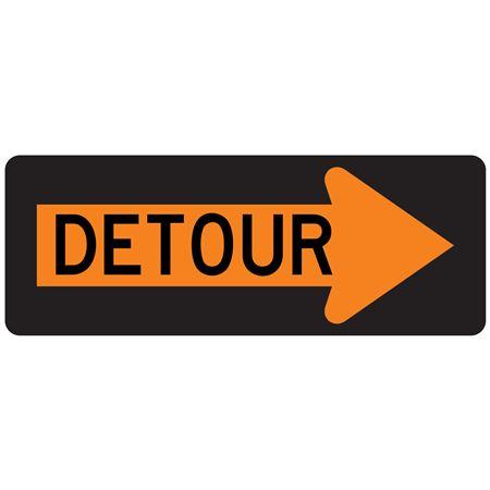 Detour (Right Arrow) 18x48 Sign