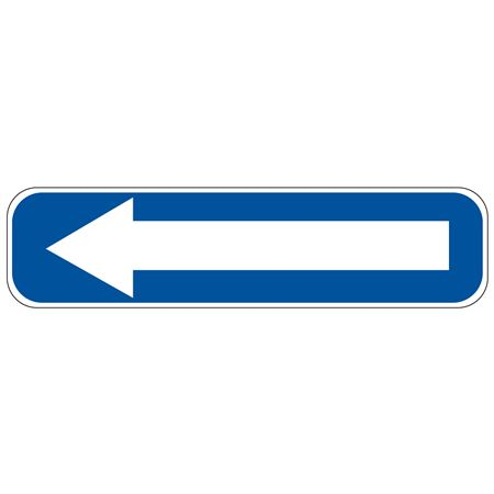 Left Arrow (Blue/White) Sign