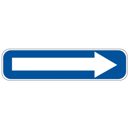 Right Arrow (Blue/White) Sign