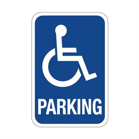 Parking with Symbol Sign  12 x 18