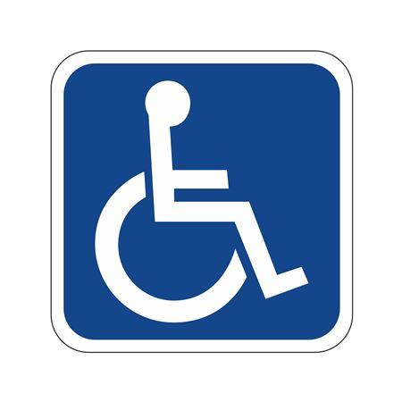 Handicapped Symbol Sign  18 x 18