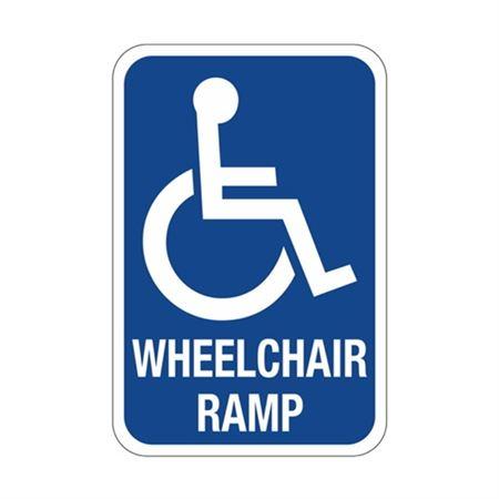 Wheelchair Ramp  Symbol  Sign  12 x 18