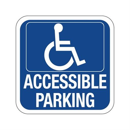 Accessible Parking  Symbol Sign 12 x 12