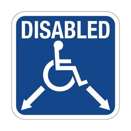 Disabled with Arrows  Symbol  Sign 18 x 18