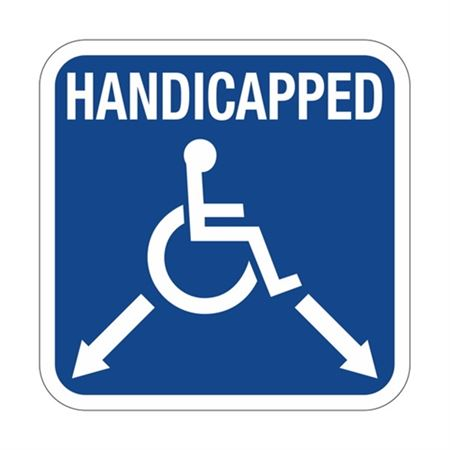 Handicapped with Arrows - Symbol Sign