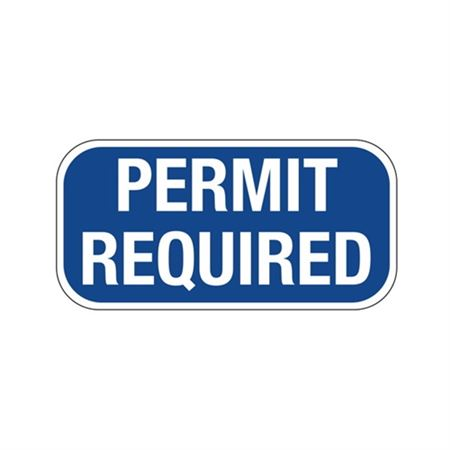 Permit Required Sign 6 x 12