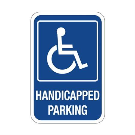 Handicapped Parking Symbol Sign 12 x 18