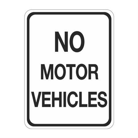 No Motor Vehicles Sign