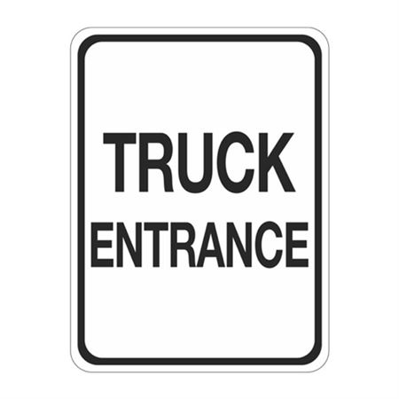 Truck Entrance Sign  18 x 24