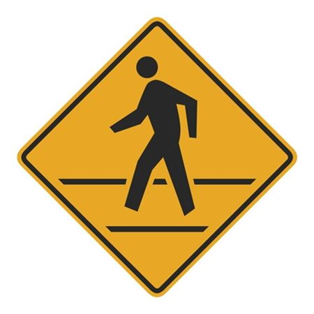 Pedestrian Crosswalk (Graphic) Sign