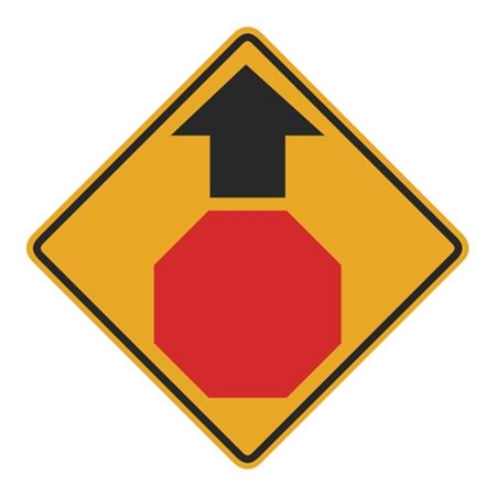 Stop Sign Ahead (Graphic) Sign