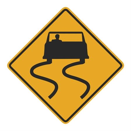Slippery Road (Graphic) Sign 24 x 24