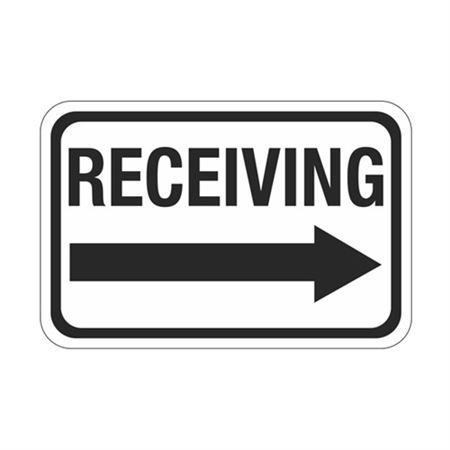 Receiving Arrow Right Sign  12 x 18