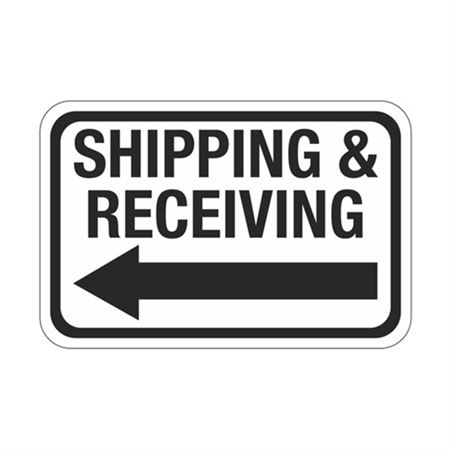 Shipping & Receiving Arrow - Left Sign