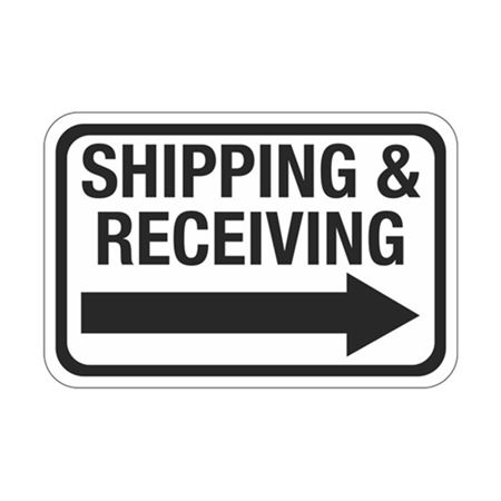 Shipping & Receiving Arrow - Right Sign