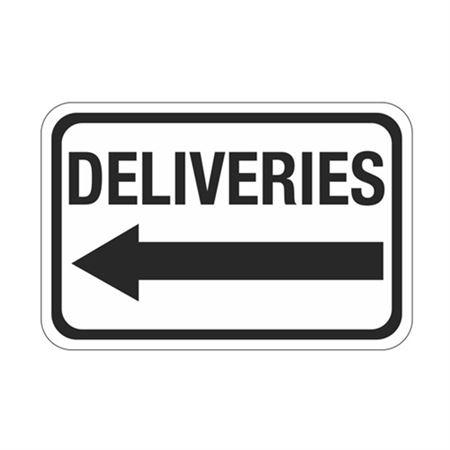 Deliveries Arrow - Left Sign 12 x 18