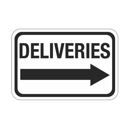 Deliveries Arrow - Right Sign
