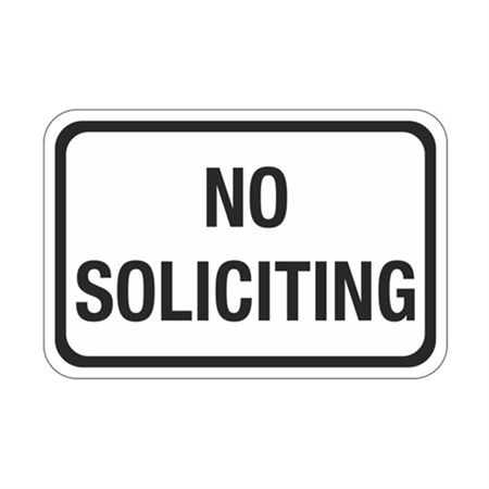 No Soliciting Sign 12 x 18