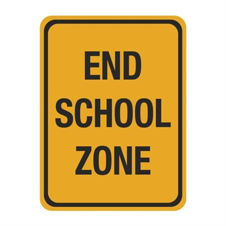 End School Zone Sign 18 x 24