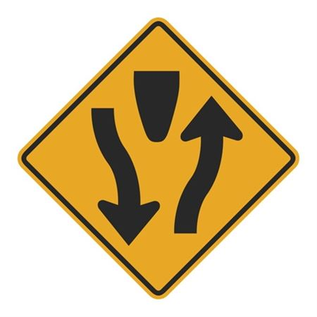 Divided Highway (Graphic) Sign