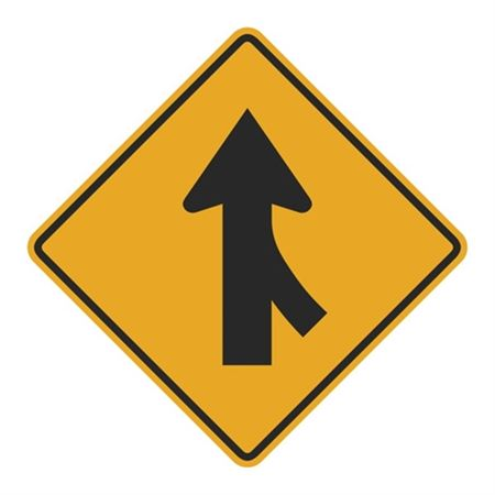 Right Lane Merge (Graphic) Sign