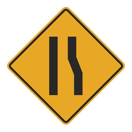 Right Lane Ends Merge Left (Graphic) Sign 24 x 24