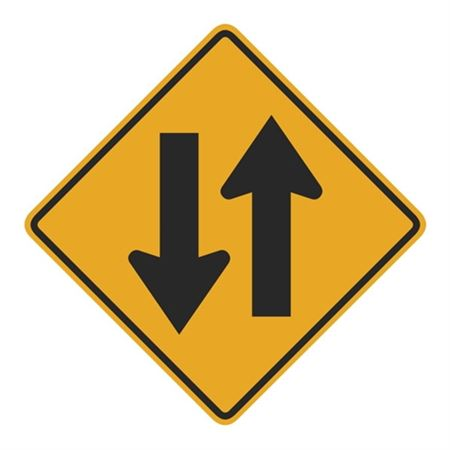 Two Way Traffic (Graphic) Sign